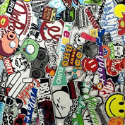 Hydrographic Film - Water Transfer Printing - Hydro Dipping - Sticker bomb C - 1 Metre
