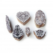 Butterfly and Heart Ethnic Pattern Wood Block Print Stamps