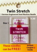 Klasse' Twin Stretch Needle Size 75/4.0mm