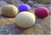 Meditation Cushion (Zafu), Inflatable, Sage;