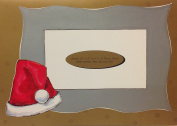 (10) Santa Claus Hat Christmas Photo Cards - 10 Blank Photo Cards and Red Envelopes
