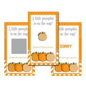 Set of 12 Scratch Off Game Cards for Baby Shower Games with Fall Polkadot Pumpkins SCF011