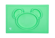 The Mess-Less Mat, Silicone Placemat, Suctions to Table, FDA Approved, Soothing Pastel Colours
