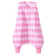 HALO SleepSack Early Walker Micro Fleece Wearable Blanket, Pink Butterfly Ombre, Medium