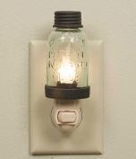 Mini Mason Jar Night Light in Rustic Brown Metal Colour