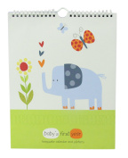 "Baby's First Year Calendar Keepsake with Milestone Stickers ""Jungle Friends"" Baby Boy Record Keeping Calendars"