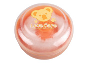 Baby Face Body Cosmetic Powder Puff Sponge Box Case Container Kit Safety Talcum Supplies Orange