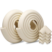 Excgood Premium Edge & Corner Guards, Extra-Long High Density 4m Covering With 4-Pack Cushion Bumpers Protectors For Baby & Furniture Safety-White