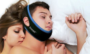 SnoreX™ Anti Snore Sleep Chin Strap - Your #1 Snore Relief Guard - Jaw Srap Snore Solutions Device - The Sleep Aid That Is Rated Most Comfortable And Easy To Wear