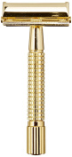 GOLDDACHS Germany Pfeilring Double Edge Butterfly Safety Razor, Stainless Steel Gold Coloured