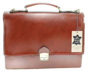 CTM Men Handbag, Italian Leather Briefcase, 38x29x12cm, 100% Genuine Leather Made in Italy