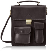 Man Bag by Labour, Organiser Italian, 100% Genuine Leather Made in Italy