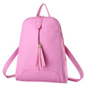 YR.Lover Women High Capacity Backpack Fashion Leisure PU Leather Tote Shoulder
