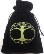 Find Something Different Unisex-Child Tree Of Life Luxury Tarot Embroidered Velvet Purse