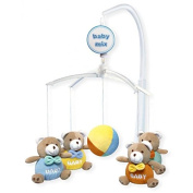 BX- MUSICAL MOBILE WHITE 715 BABY BIG BEARS