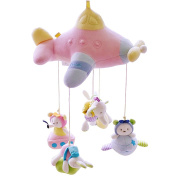SHILOH Baby Crib Mobile with Musical Box & Holder, Pink Airship