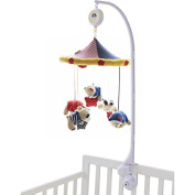 SHILOH Baby Crib Mobile with Musical Box & Holder, Bear Family