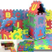 Ardisle Alphabet Play Mat Baby Kids Soft Eva Foam Jigsaw Puzzle Floor Mat Interlocking