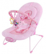 Luxury Soft Fabric Baby Vibrating and Musical Bouncy Chair, with Recline and Head Hugger