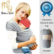 4-in-1 Mother's Touch® Baby Wrap Carrier | Soft Baby Carrier | Baby Sling Carrier | Postpartum Belt | Nursing Cover | Best Baby Shower Gift