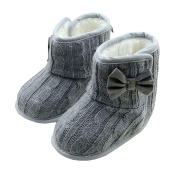 Koly Baby Winter Warm First Walking Shoes Bowknot Soft Sole Toddler Snow Boots