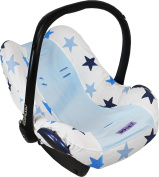 Dooky Infant Car Seat Cover Universal Stylish Protector For Baby Carrier Blue