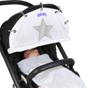 Cream Reflective Star Dooky Winter Pram Shade - Pushchair With Easy Fit Easy