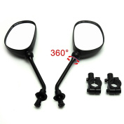 Yuver(TM) Rear view mirror set for Polaris line of ATVs, Universal fit on handle bars