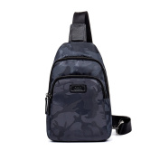 GSQ Camouflage Men Chest Bag Men Bag Brand Designer New Arrival Messenger Bags Casual Mens Crossbody Bags Blue