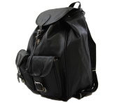 Spago Backpack - Women 'S - Vintage Style - Synthetic - Black - One size