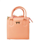 Peach Bow on Top Bag by Tresclassy