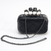 Vintage European and American style Super Cute Candy High-grade Faux Leather Black Hard Case Evening Party Handbag Clutch