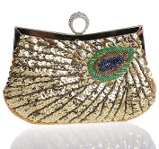 SCIONE Ladies Glittery Vintage Exquisite Sequined Evening Hand Bag Shining Party Purse Clutch