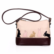Longra® Women Cute Cat Pattern Shoulder Bag Cross Body Handbag (29cm(L)*19cm(H)*13cm