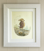 Beatrix Potter FRAMED PRINT, New Baby/Birth, Christening, Baby Shower, Nursery Picture Gift, Peter Rabbit and Friends