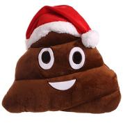 EMOJI CHRISTMAS POOP CUSHION