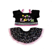 Love Sparkle Sequin Outfit with earbow / teddy clothes to fit 38cm Build a Bear