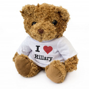 NEW - I LOVE HILLARY - Teddy Bear - Cute Soft Cuddly - Gift Present Birthday Xmas