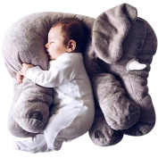 AngelPrice Stuffed Elephant Pillow Blanket Set Kids Toy ,Cartoon Plush Throw Blanket with Elephant Pillows for Baby Boy Girl Adult