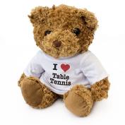 NEW - I LOVE TABLE TENNIS - Teddy Bear - Cute Soft Cuddly - Gift Present Birthday Xmas