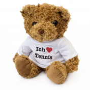 NEW - ICH LIEBE TENNIS - Teddy Bear - Cute Soft Cuddly - Gift Present
