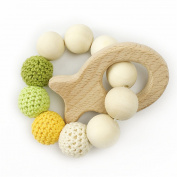 Baby Teethers Baby Bracelet Natural wood Teething Ring Nursing Crochet Beads Wooden fish Elephant Baby toys Rattle Teether Toy