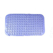 Anlass Anti-Slip-Resistant Bath Mat Anti Slip Suction Bath Mat for Tub & Shower Bathroom Safety Solid Blue