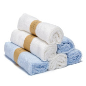 25cm x 25cm ,6 Pack Bamboo Baby Washcloths,Premium Soft & Absorbent Towels for Baby Bath - Durable Organic Baby Wipes