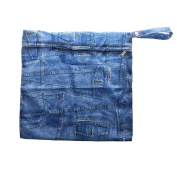 Phenovo Baby Waterproof Travel Cloth Zipper Nappy Wet Dry Storage Bag Tote Nappy Pouch - 5
