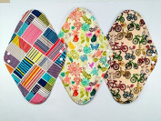 3 Pieces 36cm Overnight/PP Charcoal Bamboo Reusable Cloth Mama Menstrual Pads