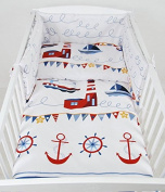 Baby Lux Children's Bedding Set Baby Bedding L 100 x 135 cm Bed Linen (2-Piece Set 49. Lighthouse