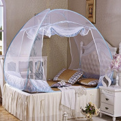 Double door mosquito net instal folding double encryption yurt-free nets