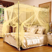 Encryption in summer bold stainless steel three-door Imperial Princess floor-standing mosquito net