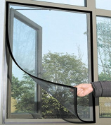 Popamazing Black Magnetic Fastening Magic Curtain Fly Bug Insect Screen Door Mesh
